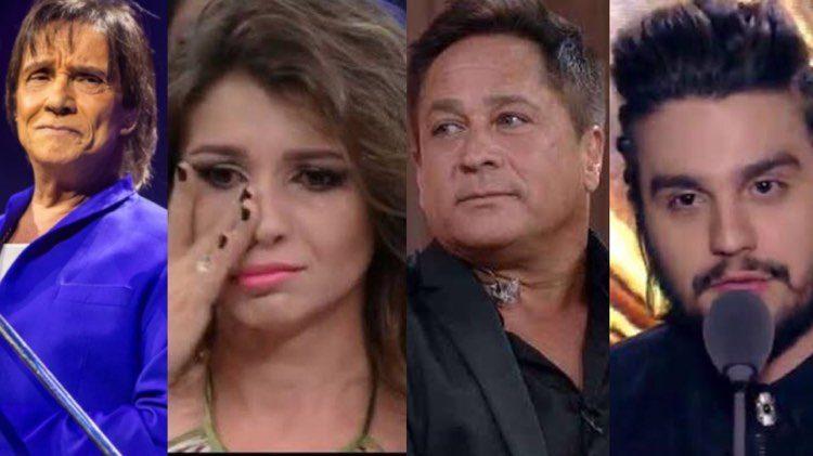 Paula Fernandes já teve o nome envolvido em polêmicas com Roberto Carlos, Leonardo e Luan Santana (Montagem: TV Foco)