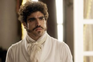 Pedro (Caio Castro) surpreso na novela Novo Mundo