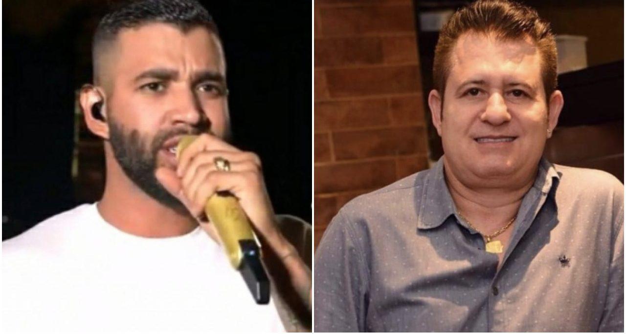 Gusttavo Lima expõe o amigo Marrone e falou de chifres (Foto: Reprodução/ Montagem/ TV Foco)