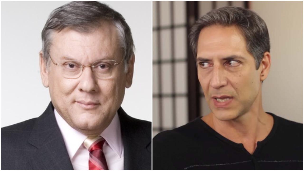 Lacombe e Milton Neves (Foto: Reprodução)