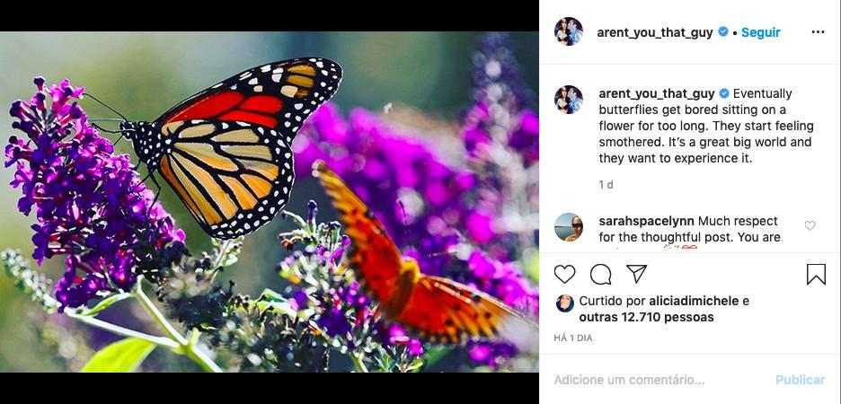 Post feito por Brian Austin em seu perfil do Instagram (Foto: Reprodução)