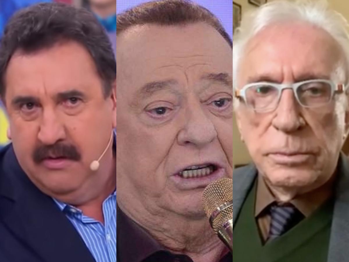 Sensitivas falam do futuro do apresentador do SBT, Raul Gil, Ratinho e Moacyr Franco (Foto: Reprodução/Montagem TV Foco)