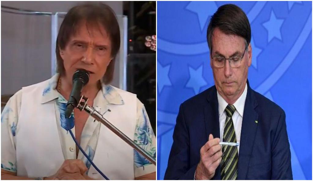 Roberto Carlos abandonou Bolsonaro de vez - Foto: Reprodução/Montagem