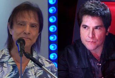 Roberto Carlos e Daniel teriam embate de lives na Globo e Band (Foto: Reprodução/Montagem)