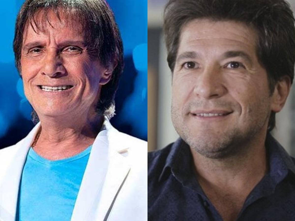 Roberto Carlos na Globo ocasionou mudança do show de Daniel na Band (Foto: Divulgação/Montagem)