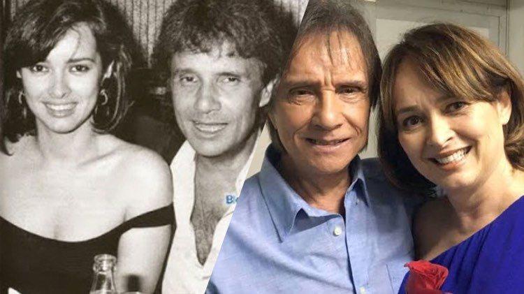 Myrian Rios faz TBT no Instagram em homenagem à Roberto Carlos (Montagem: TV Foco)
