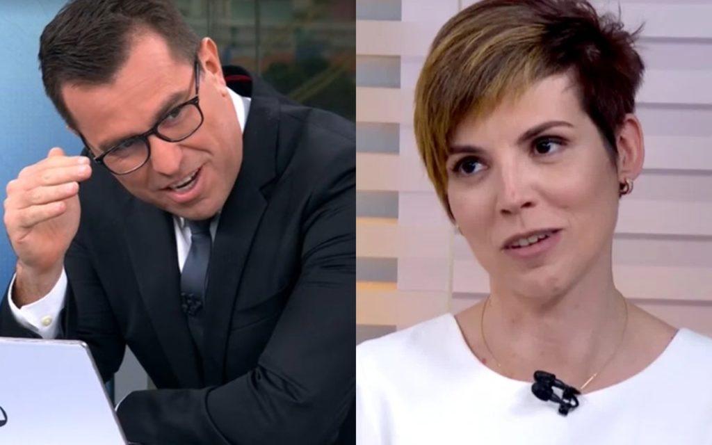 Rodrigo Bocardi e Glória Vanique se confundiram ao vivo na Globo (Foto: reprodução/Globoplay)