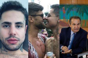 Rodrigo Buenno assumiu ter HIV e falou sobre sexo com sobrinho de Silas Malafaia (Foto: montagem TV Foco)