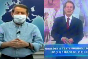 O pastor R.R. Soares promete vender uma água abençoada que cura a covid-19 (Foto: reprodução)