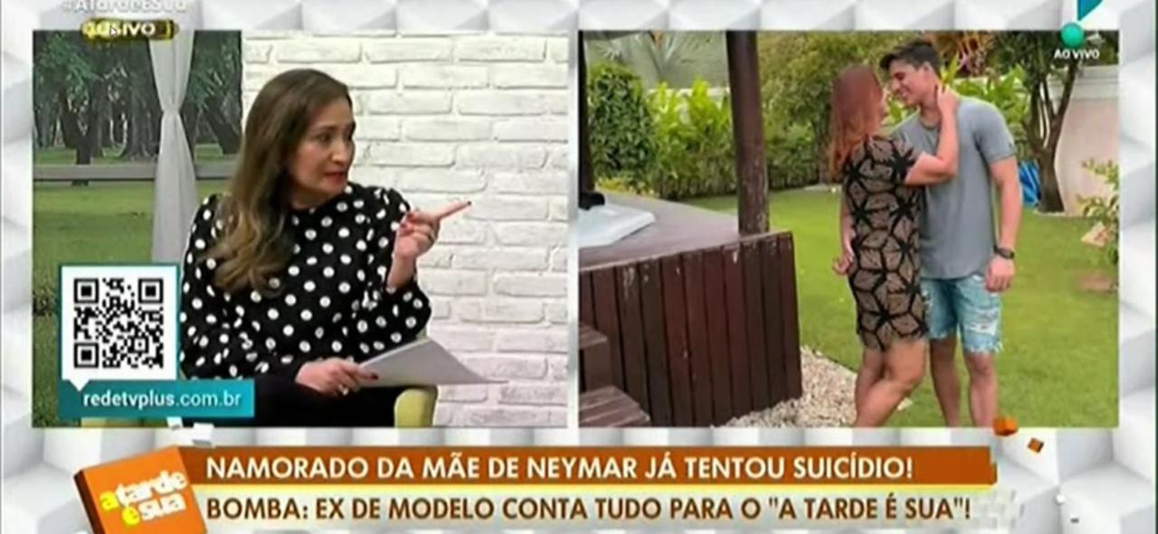 Sonia Abrão no programa A Tarde é Sua intervém na fala do jornalista Felipeh Campos (Foto: Reprodução)