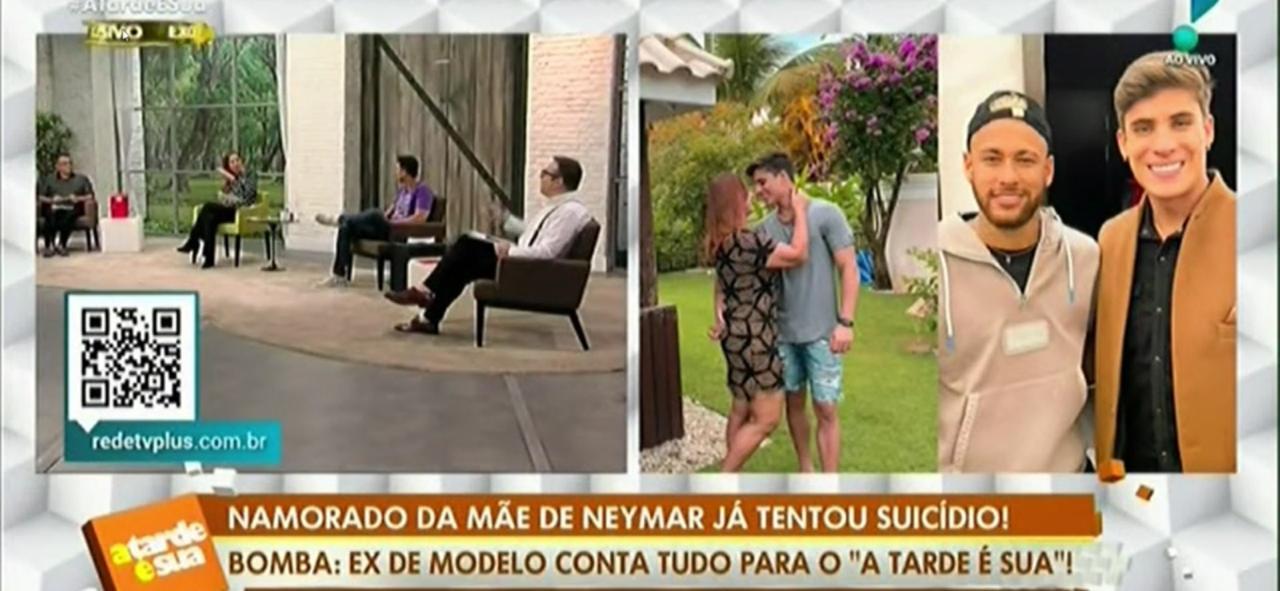 Sonia Abrão e sua equipe ao vivo (Foto: Reprodução)