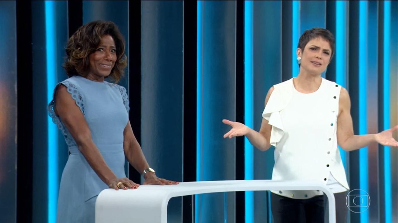 Sandra Annenberg ao lado de Glória Maria no 'Globo Repórter' (Foto: reprodução/Globo)