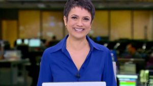 A âncora no 'Jornal Hoje' (Foto: reprodução/Globo)