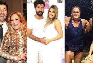 Sandro Pedroso, já foi casado com Susana Vieira e atualmente é esposo de Jéssica Costa, filha de Leonardo (Montagem: TV Foco)