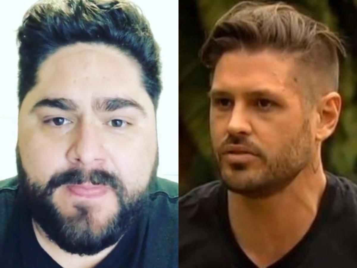 O ex-ator da Record, Dado Dolabella e o famoso cantor sertanejo César Menotti trocaram farpas nas redes sociais (Foto: Reprodução/Montagem TV Foco)
