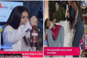 Simaria exagerou no álcool durante live - Foto: Reprodução