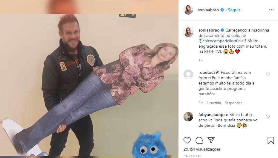 Sonia Abrão postou brincadeira dos bastidores (Foto: Reprodução/Instagram)