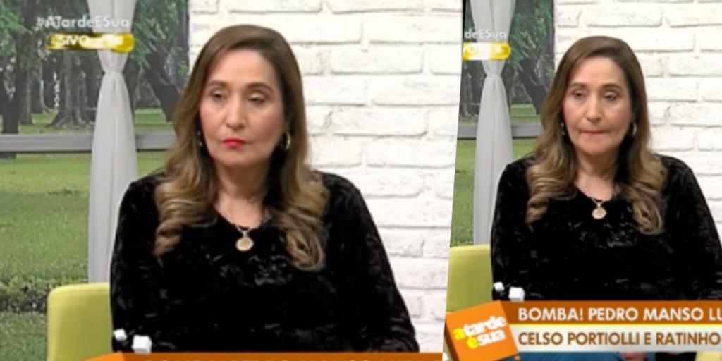 Sonia Abrão, ao vivo na RedeTV, falou sobre momento delicado (Foto montagem)