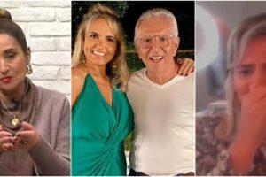 Renata Domingues, esposa de Carlos Alberto de Nóbrega, chorou no programa de Sonia Abrão (Reprodução)