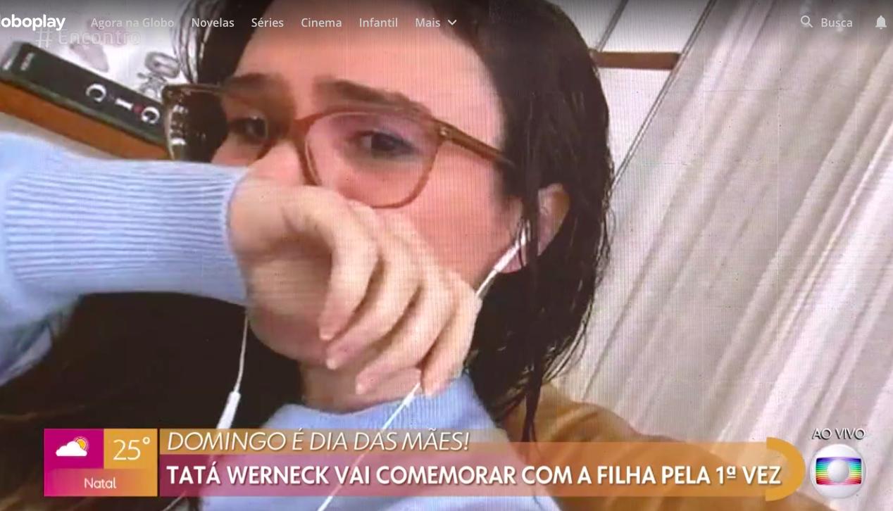 A famosa apresentadora Tatá Werneck chorou ao falar sobre a sua filha durante o Encontro com Fátima Bernardes Foto: Reprodução/Globoplay)