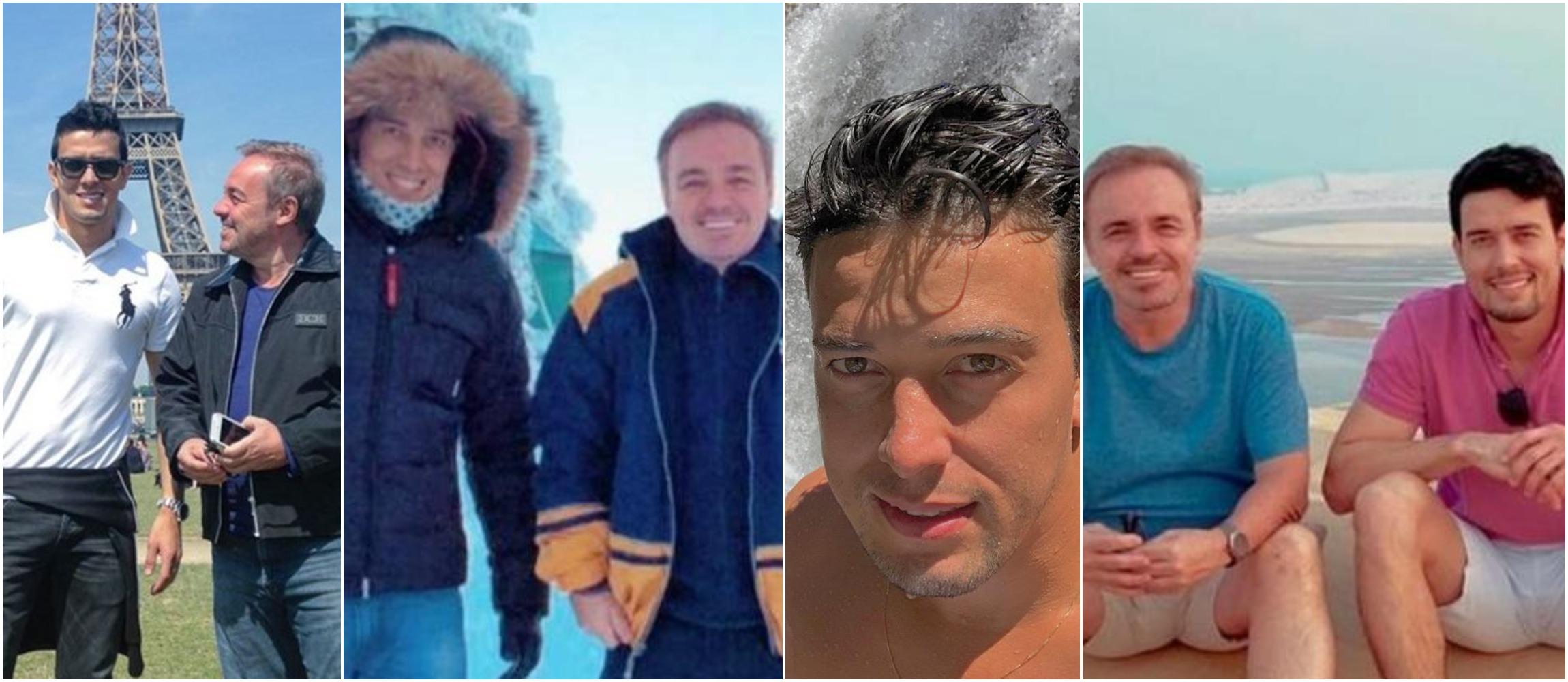 Thiago Salvático em fotos ao lado de Gugu por viagens ao redor do mundo (Reprodução)