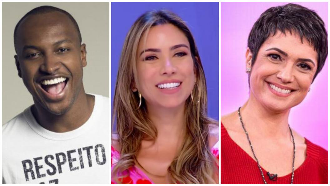 Thiaguinho, Patrícia Abravanel e Sandra Annemberg foram alvo de previsões - Foto: Reprodução