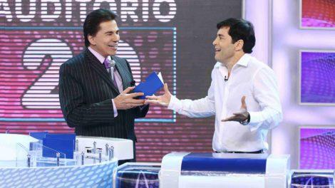 Silvio Santos e Tiago Santiago no programa do SBT - Foto: Reprodução