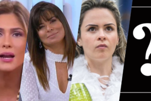 Mara e Lívia deixam programa para Ana Paula Renault e nova apresentadora (Foto montagem)