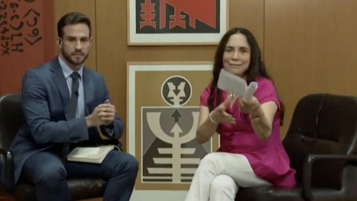 Regina Duarte em entrevista à CNN Brasil. (Foto: Reprodução)