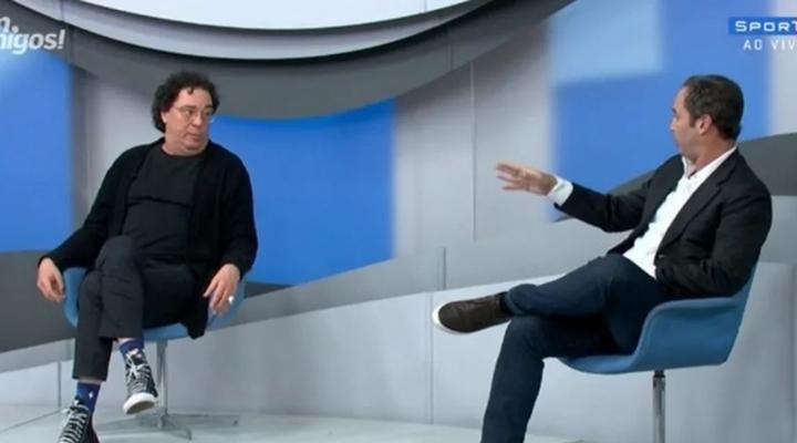Casagrande e Caio no programa Bem Amigos. (Foto: Reprodução)