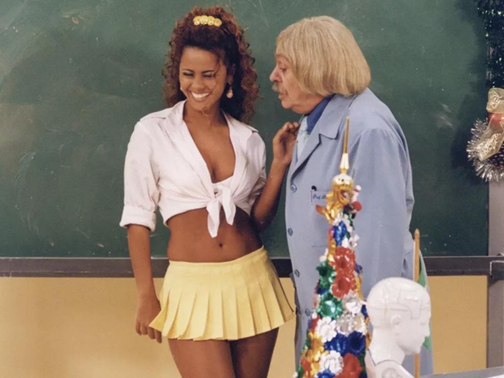 A atriz na 'Escolinha do Professor Raimundo' (Foto: reprodução/Globo)