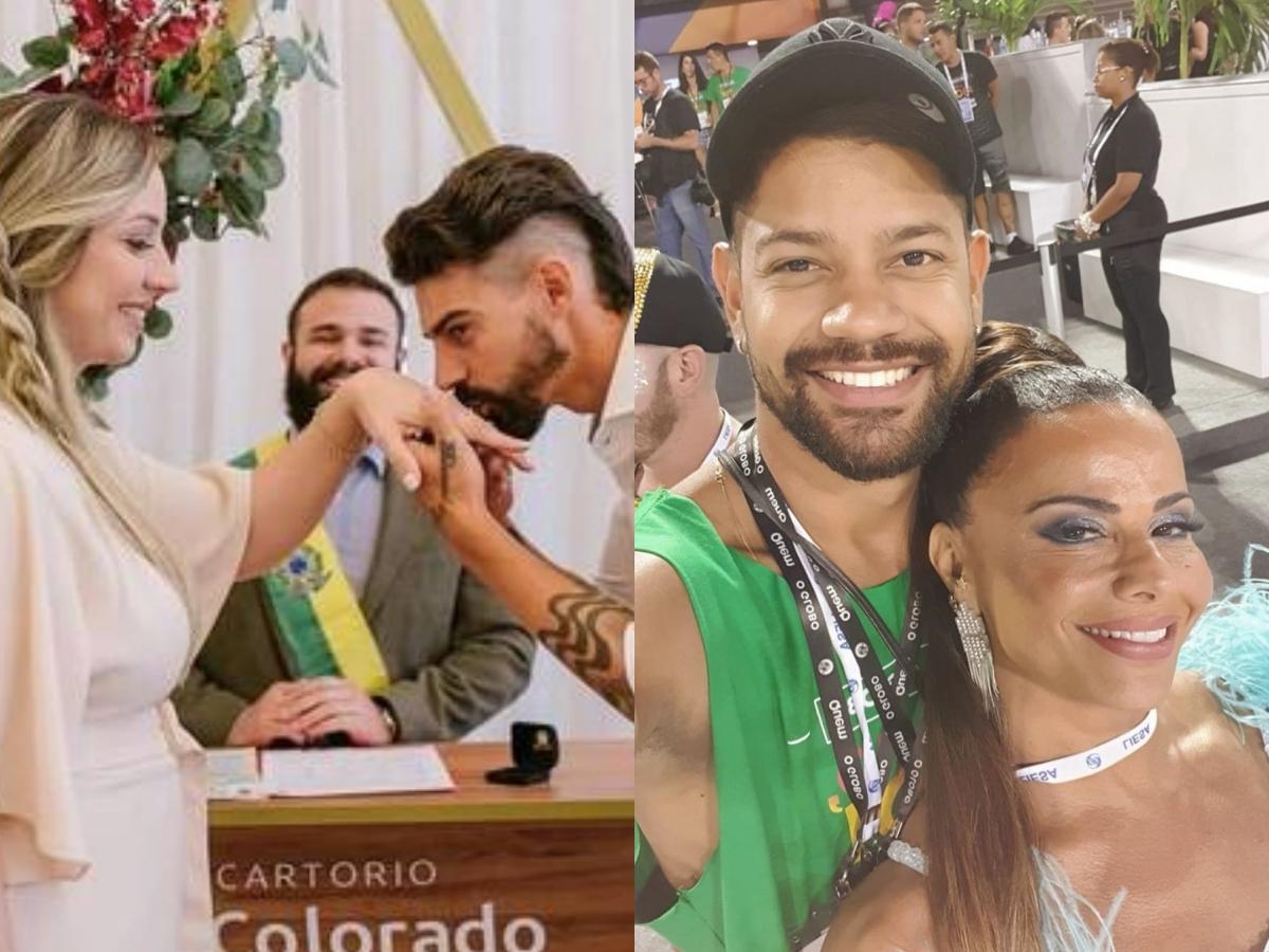 A mulher atual do ex-marido de Viviane Araújo, Calorilne Furlan ataca atriz da Globo publicamente e recebe punição (Foto: reprodução/Montagem TV Foco)