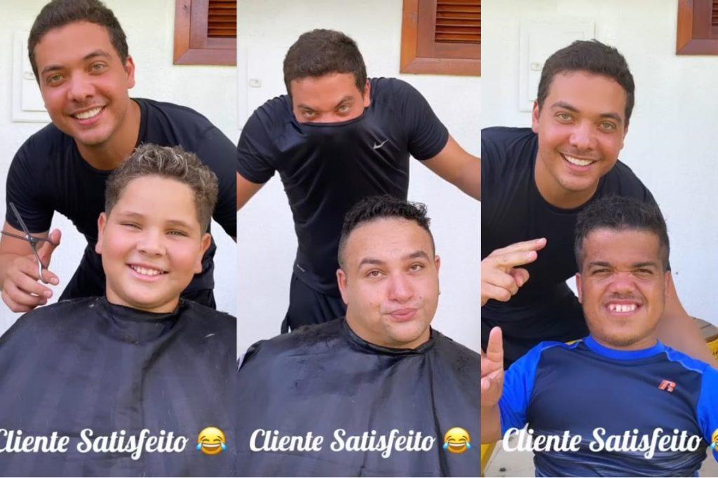 Wesley Safadão mostra resultado após corta cabelo em seu areas no Ceará
