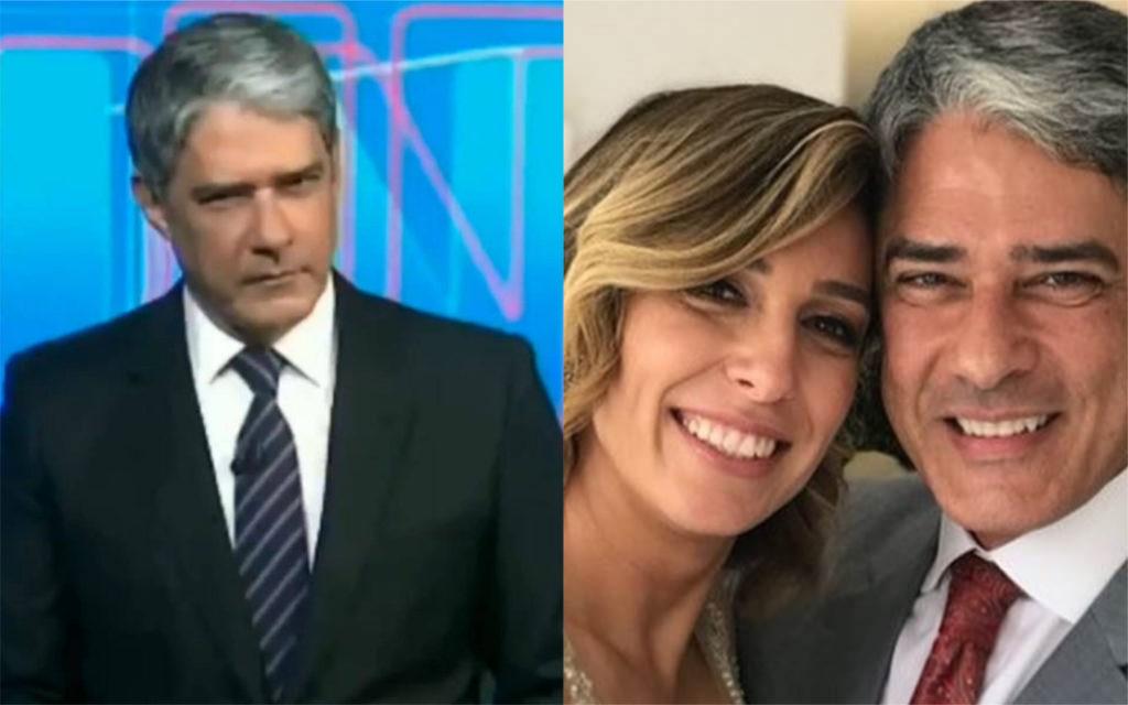 William Bonner e sua atual esposa, Natasha Dantas (Foto: Divulgação)