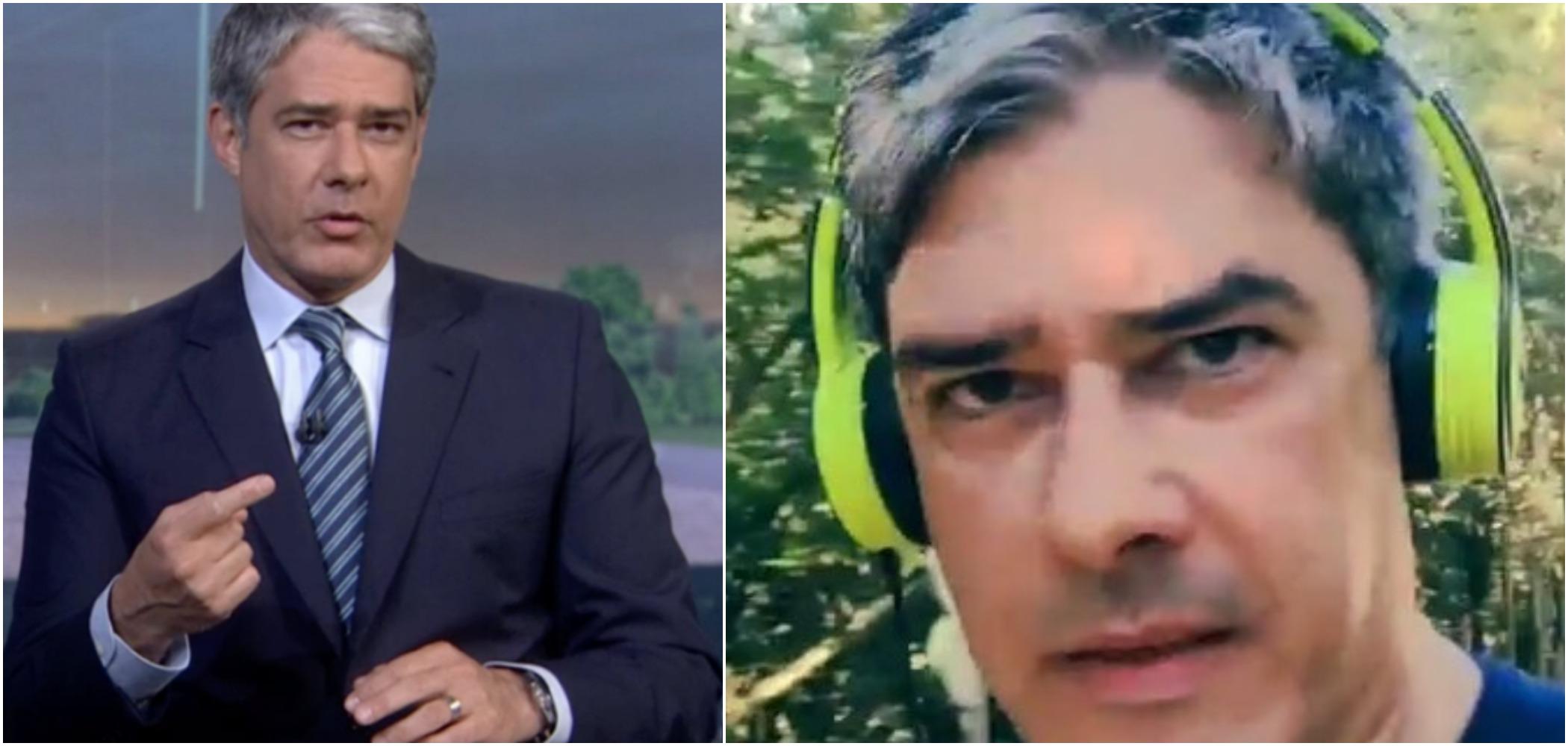 William Bonner teria desabafado sobre estresse nos bastidores da Globo (Reprodução)
