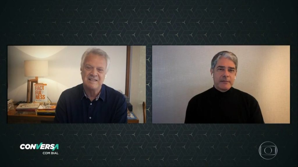 William Bonner em entrevista ao Conversa com Bial (Foto: Reprodução)