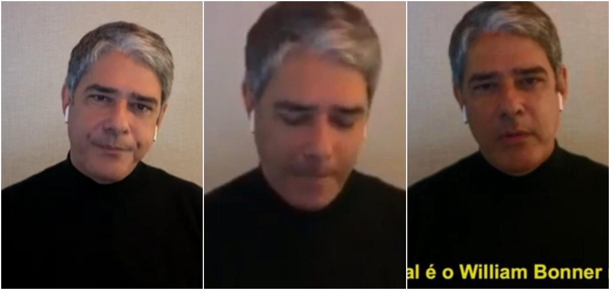 William Bonner concedeu rara entrevista a Pedro Bial (Reprodução: Globo)