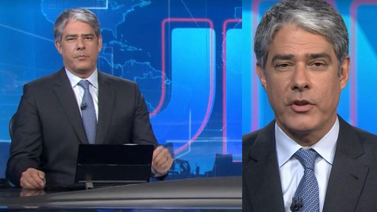 William Bonner foi interrompido no Jornal Nacional (Foto: Reprodução/TV Globo)