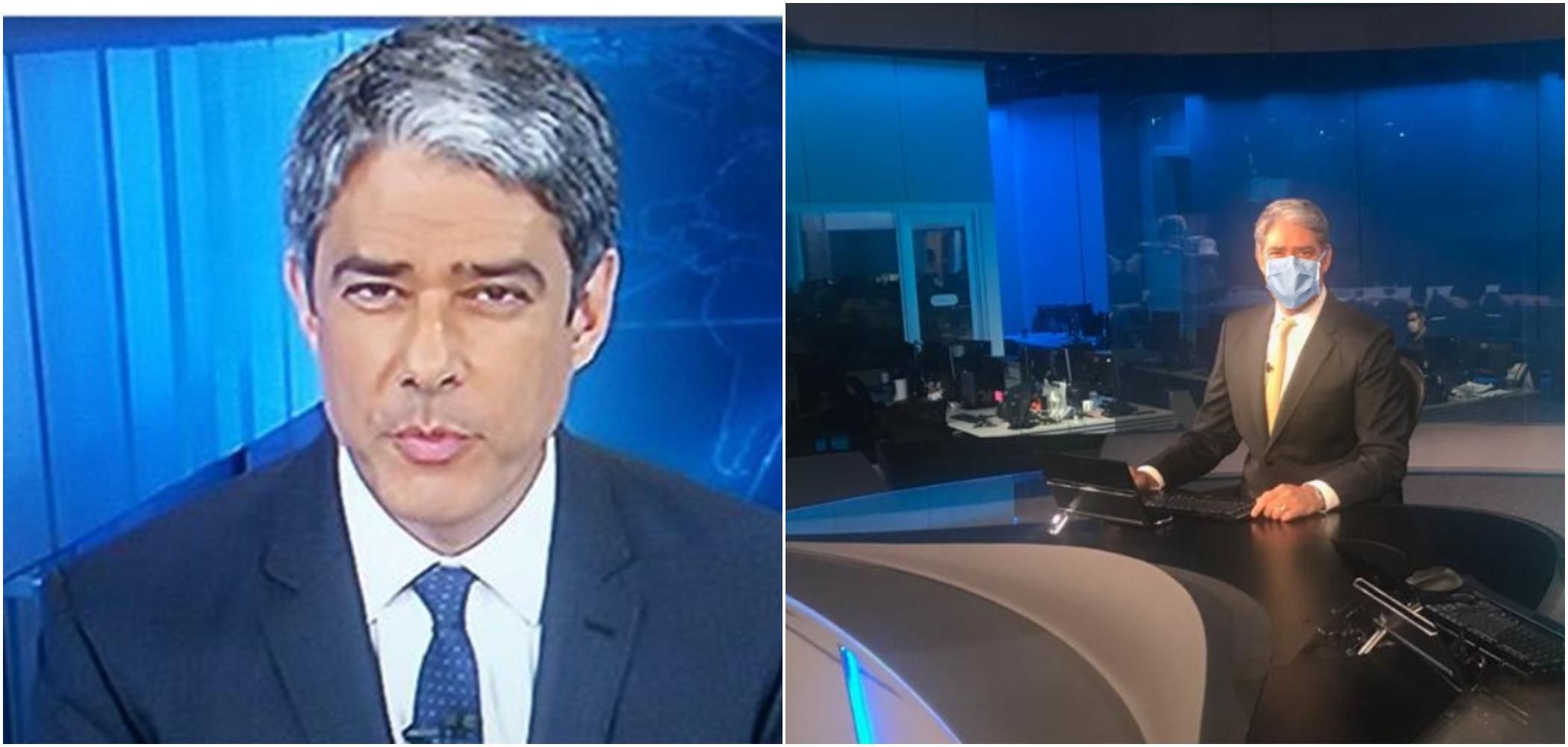 O apresentador da Globo, William Bonner, foi ironizado por Rodrigo Maia (Reprodução)