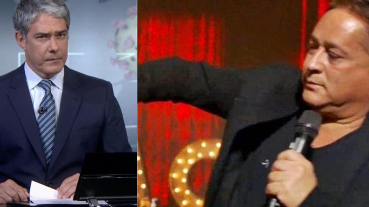 William Bonner e Leonardo (Foto: Reprodução/TV Globo/YouTube)