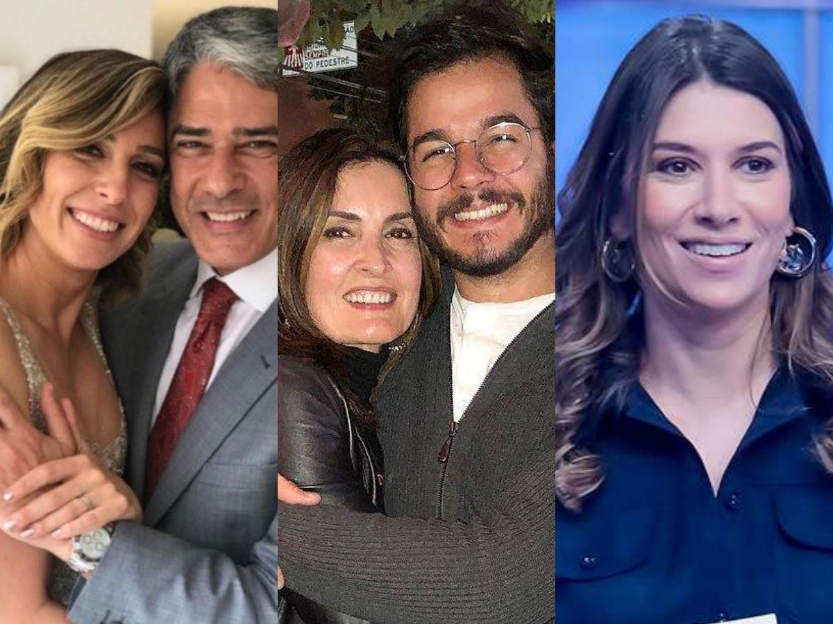 William Bonner deixa Natasha Dantas, Fátima Bernardes tem desfecho com Túlio Gadêlha e Rebeca Abravanel sofre (Foto: Reprodução/Montagem TV Foco)
