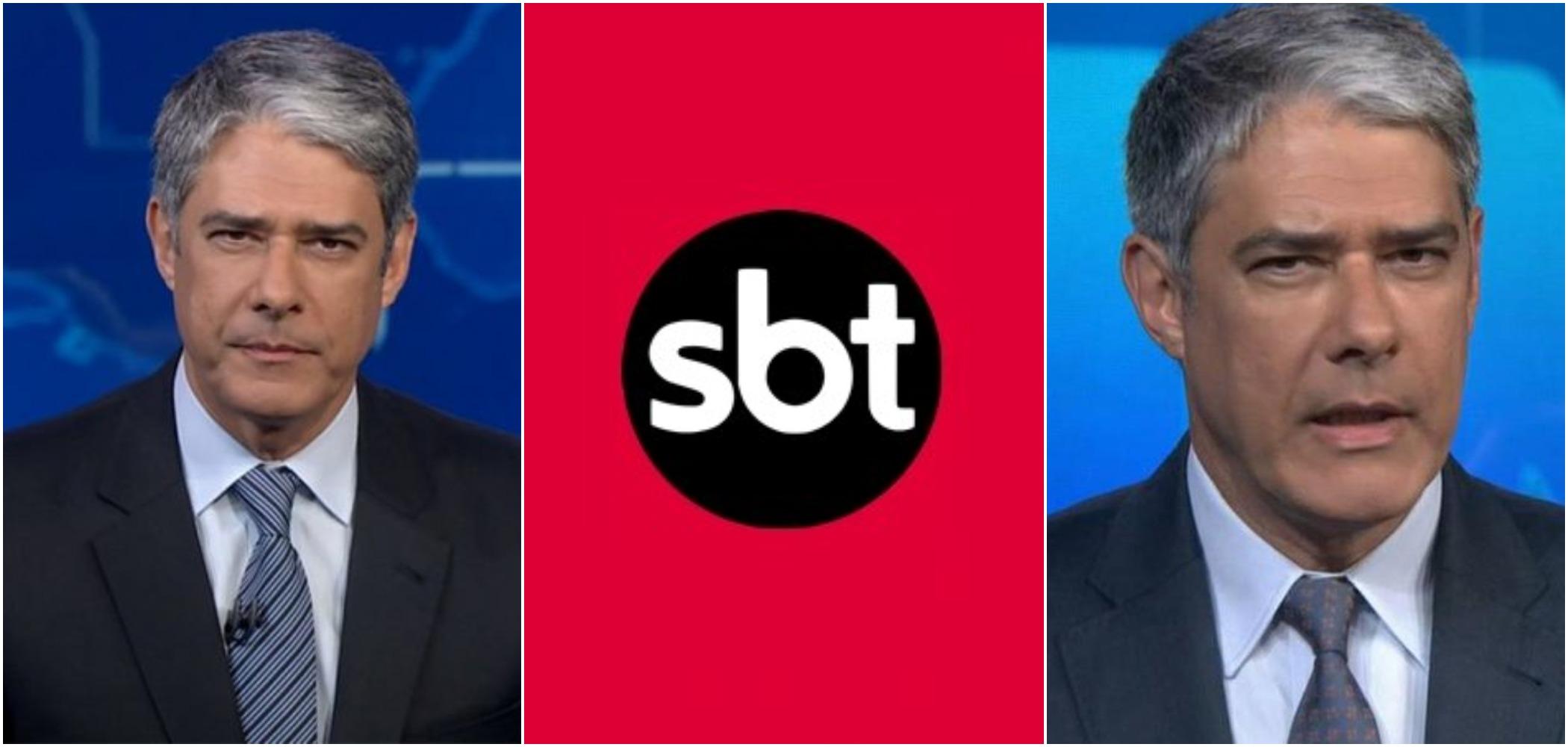 O fato relatado por William Bonner envolvendo globo seu filho virou assunto no SBT