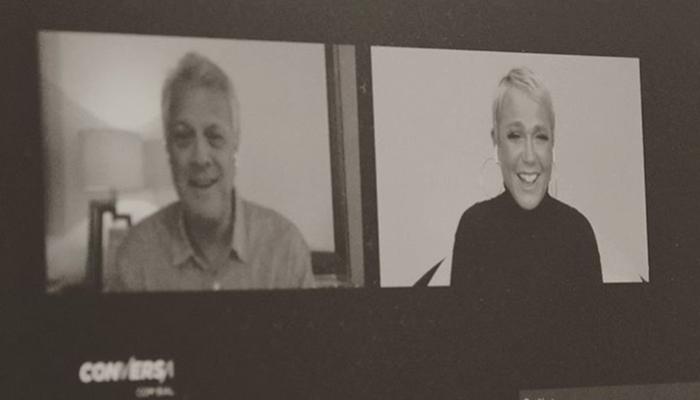 Xuxa durante entrevista ao Conversa com Bial (Foto: Reprodução/Montagem TV Foco)