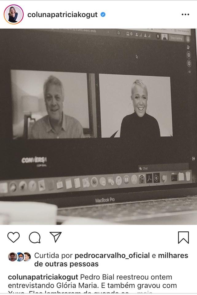 Xuxa volta para a tela da Globo na próxima quinta-feira em entrevista com Bial (Montagem: TV Foco)