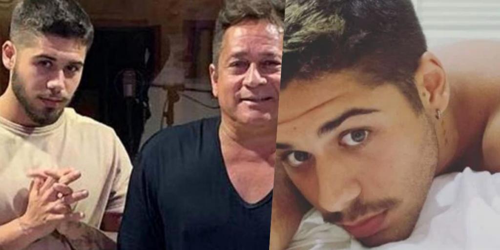 Zé Felipe, filho do cantor Leonardo, deu o que falar ao assumir festa em motel (Foto montagem)