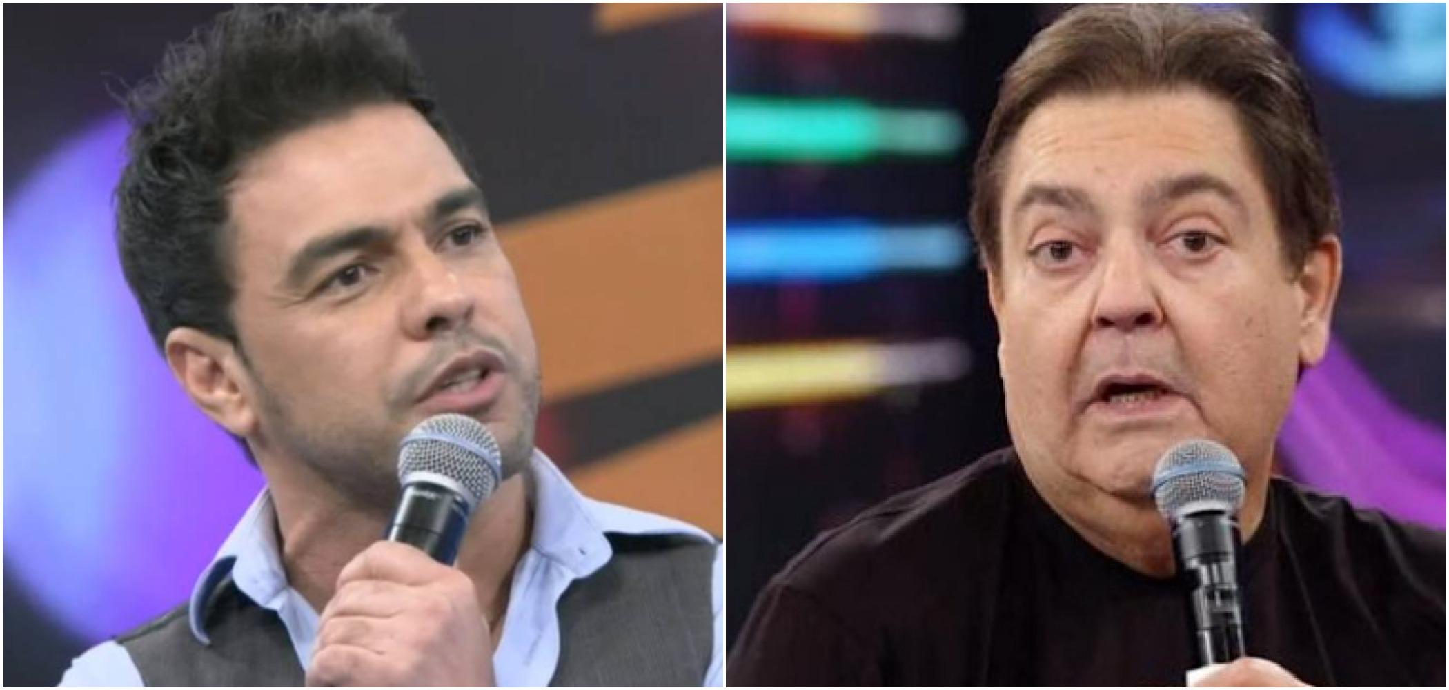 luciano Zezé Di Camargo e o apresentador da Globo, Faustão (Reprodução)