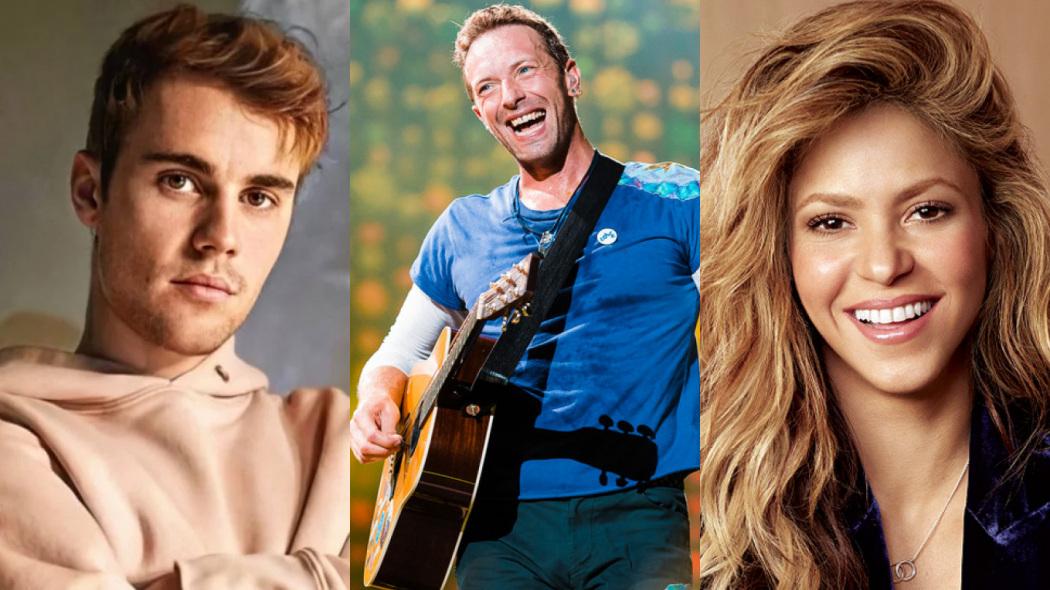TV Globo exibe live com Justin Bieber, Coldplay, Shakira e outros