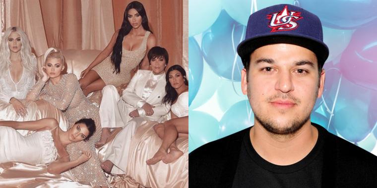 Rob Kardashian, filho de Kris Jenner, aparece após anos sumido da mídia (Foto: Reprodução)