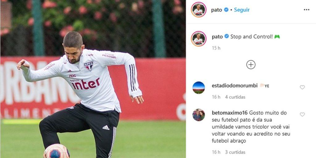 Publicação de Alexandre Pato (Foto: Reprodução/Instagram)