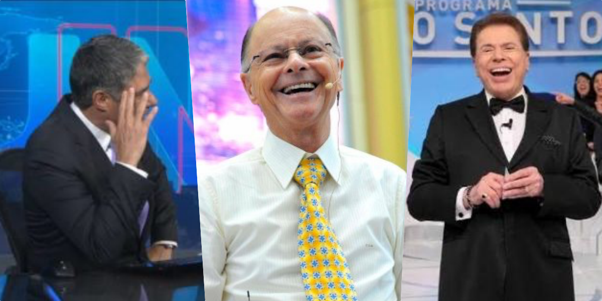 William Bonner, Edir Macedo e Silvio Santos (Foto: Montagem)